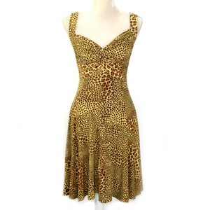 Norma Kamali Retro Animal Print Leopard Tiger King Dress
