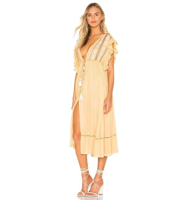 Item - Beige Bali Will Wait For You Midi Mid-length Casual Maxi Dress Size 8 (M)