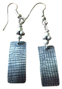 Other Handmade Sterling Silver Etched Earrings
