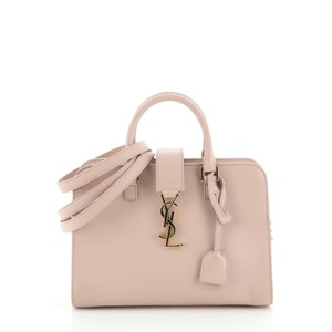 Saint Laurent Leather Satchel in pink