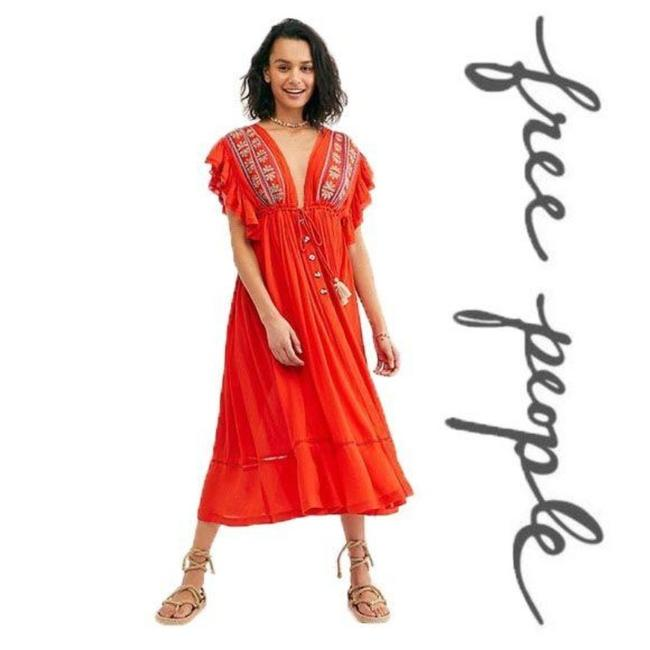 Item - Red Bali Will Wait For You Mid-length Casual Maxi Dress Size 8 (M)