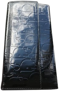 Dior Dior Patent Leather Monogram Long Wallet