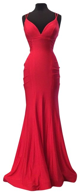 Item - Red 53434 Long Formal Dress Size 4 (S)