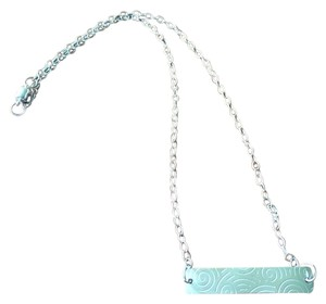 Other Handmade Sterling Silver Etched Magnetic Clasp Necklace
