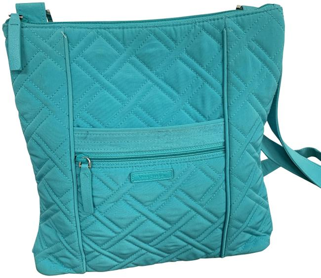 Item - Hipster Teal Cotton Cross Body Bag