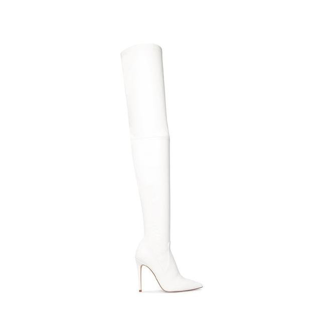 Item - White Dominique Boots/Booties Size US 8 Regular (M, B)