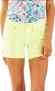 Lilly Pulitzer Denim Rolled Summer Cuffed Shorts Yellow