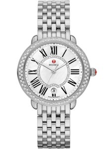 Michele Stainless Steel Serein Mid Mother Of Pearl Diamond Dial MWW21B000030