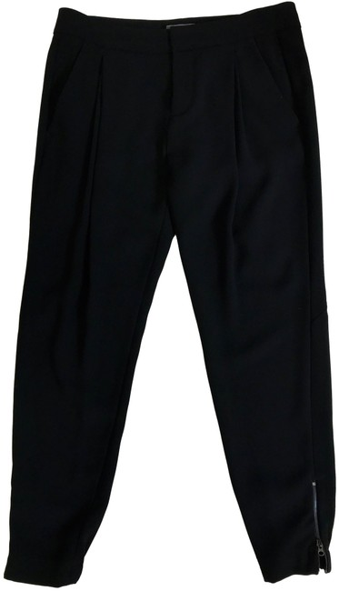 Item - Black Soft Tailored Cuffed Style Trouser Pants Size 2 (XS, 26)
