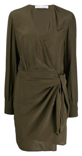 Item - Army Green Ophie Wrap Short Casual Dress Size 00 (XXS)