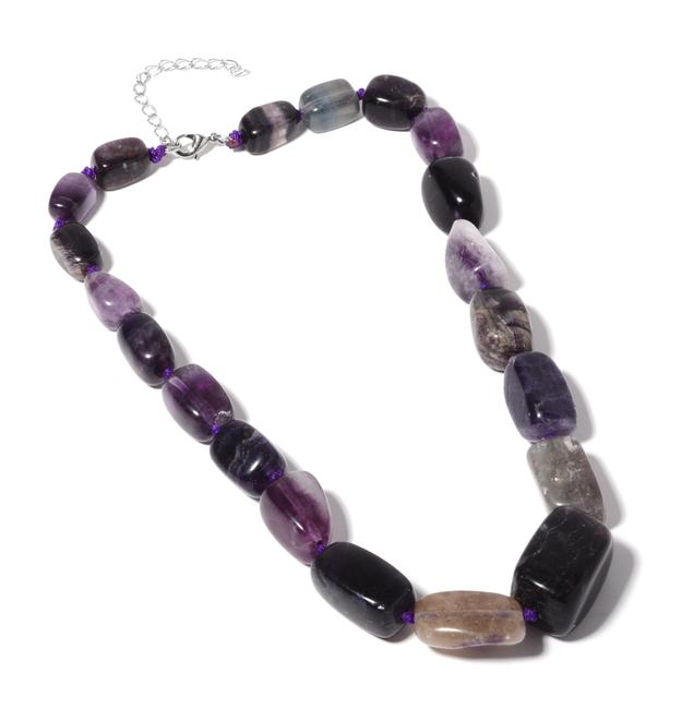Item - Purple New Fluorite (18-20 In) Tgw 680.00 Cts. Necklace