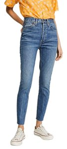 RE/DONE Skinny Jeans-Medium Wash