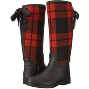 Coach Red Black Boots