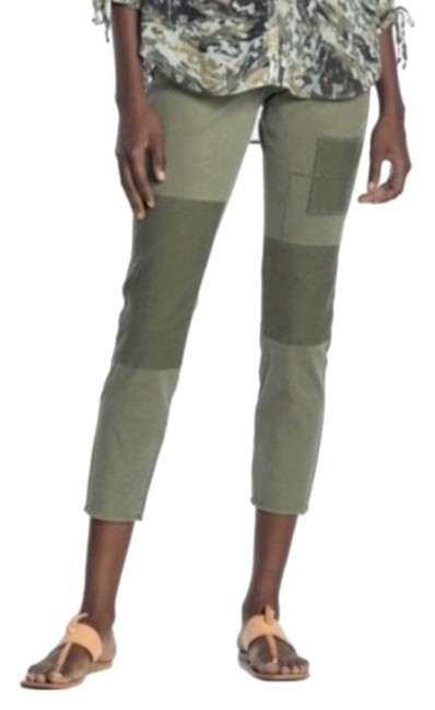 Item - Olive W Skinny Chino W/ Reverse Patches Capris Size 6 (S, 28)