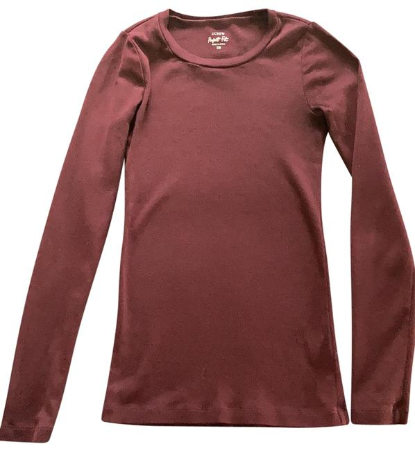 Item - Maroon Perfect Fit Long Sleeve Tee Shirt Size 0 (XS)