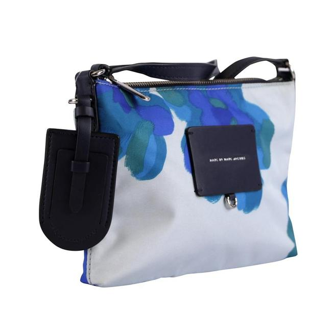Item - Preppy Legend Painted Floral Percy Cloud Blue Nylon Cross Body Bag
