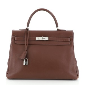 Hermes Leather Tote in Brown