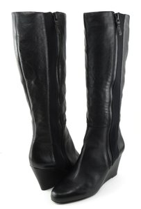 Via Spiga Designer Wedge Black Boots