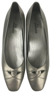 Ros Hommerson Gray Silver Narrow Pewter Pumps