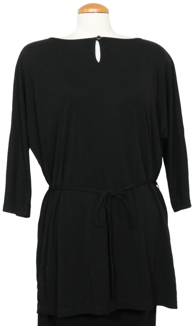 Item - Black Jersey Matte Belted 1x Tunic Size 20 (Plus 1x)