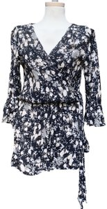 Free People 3/4 Sleeves Rear Button Entry Side Tie Closure 60% Viscose 40% Rayon Dress