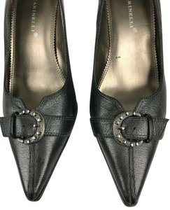 A. Marinelli Accents Charcoal Silverdetail Dressy Gray Pumps