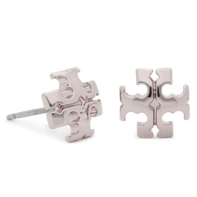 Item - Silver Kira Stud Small Logo Earrings