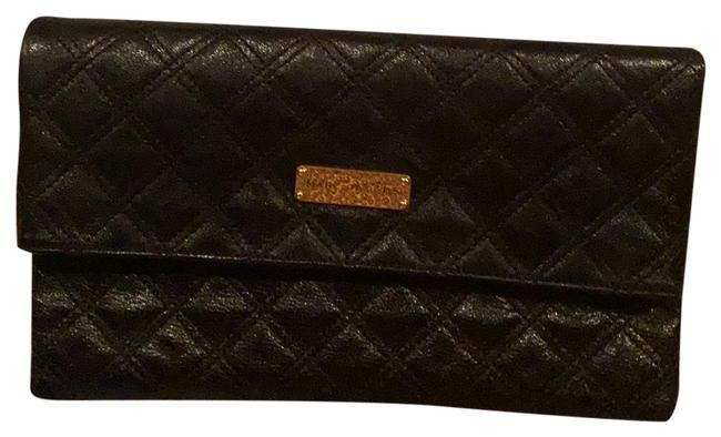 Item - Baroque Eugenia Black with Gold Hardware Leather Clutch