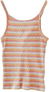 Madewell Striped Rainbow Open Back Top Multicolor