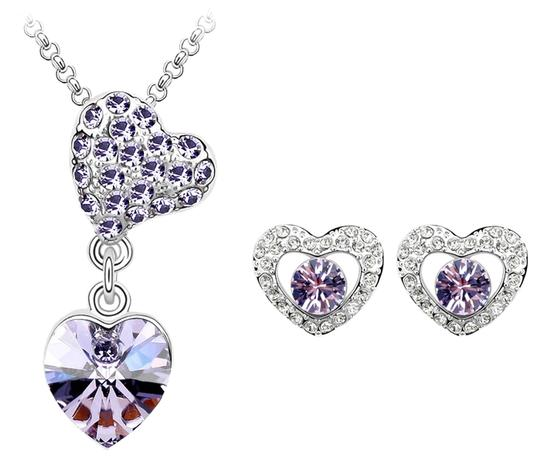 Other White Gold plated Jewelry Sets Heart Pendant Necklaces