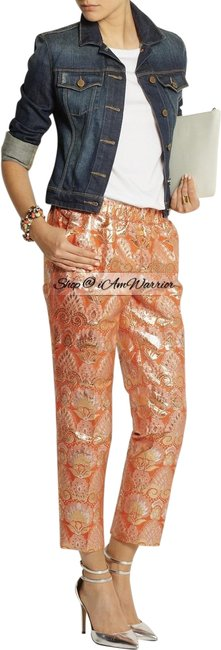 Item - Orange Gold Collection Metallic Pull On Pants Size 10 (M, 31)