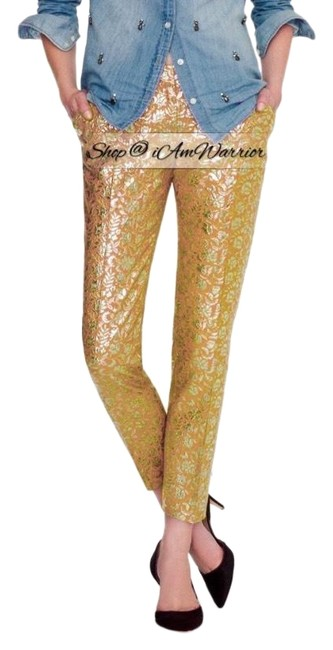 Item - Yellow Gold Nwot Collection Metallic Floral Jacquard Pants Size 6 (S, 28)