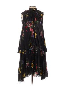 ERDEM x H&M short dress Black Floral Pleated Frill A-line Bow on Tradesy