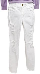 FRAME High Distressed Skinny Jeans-Distressed