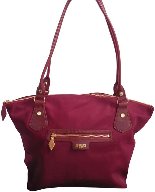 Item - Bag Bedford Chelsea Leather Large Burgundy Nylon Tote