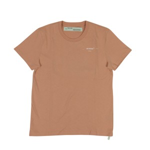 Off-White™ Cotton Summer Logo Solid Sleeve T Shirt Nude