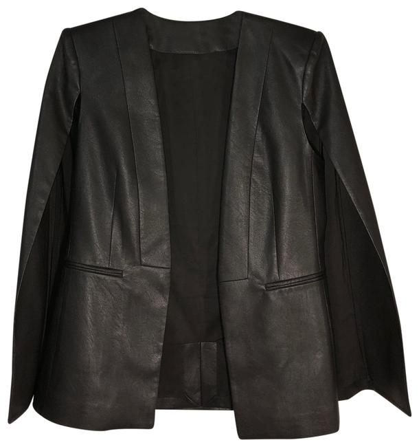 Item - Dark Grey / Black Cape Jacket Size 4 (S)