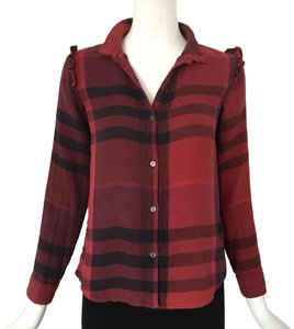 Burberry Top red/ black