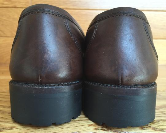 Salvatore Ferragamo Gancini Logo Bit Penny Keeper Loafer Brown Pumps