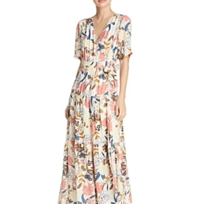 Item - Ivory/Cream Floral Long Casual Maxi Dress Size 4 (S)