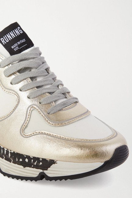 Golden Goose Deluxe Brand White Silver Running Sole Distressed Metallic Leather Sneakers Size EU 35 (Approx. US 5) Regular (M, B) Golden Goose Deluxe Brand White Silver Running Sole Distressed Metallic Leather Sneakers Size EU 35 (Approx. US 5) Regular (M, B) Image 5