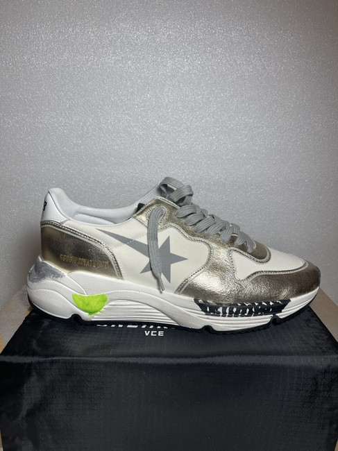 Golden Goose Deluxe Brand White Silver Running Sole Distressed Metallic Leather Sneakers Size EU 35 (Approx. US 5) Regular (M, B) Golden Goose Deluxe Brand White Silver Running Sole Distressed Metallic Leather Sneakers Size EU 35 (Approx. US 5) Regular (M, B) Image 6