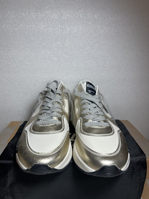 Golden Goose Deluxe Brand White Silver Running Sole Distressed Metallic Leather Sneakers Size EU 35 (Approx. US 5) Regular (M, B) Golden Goose Deluxe Brand White Silver Running Sole Distressed Metallic Leather Sneakers Size EU 35 (Approx. US 5) Regular (M, B) Image 8