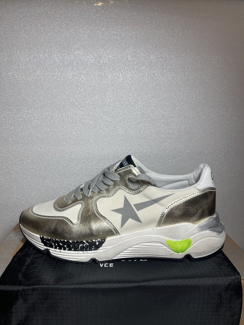 Golden Goose Deluxe Brand White Silver Running Sole Distressed Metallic Leather Sneakers Size EU 35 (Approx. US 5) Regular (M, B) Golden Goose Deluxe Brand White Silver Running Sole Distressed Metallic Leather Sneakers Size EU 35 (Approx. US 5) Regular (M, B) Image 10