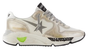 Golden Goose Deluxe Brand white silver Athletic