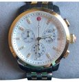 Michele Michele 'Uptown' Diamond Dial Chronograph Watch 39mm Two Tone