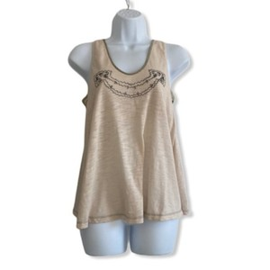 Mayle Cotton Blend Embroidered Top beige, natural