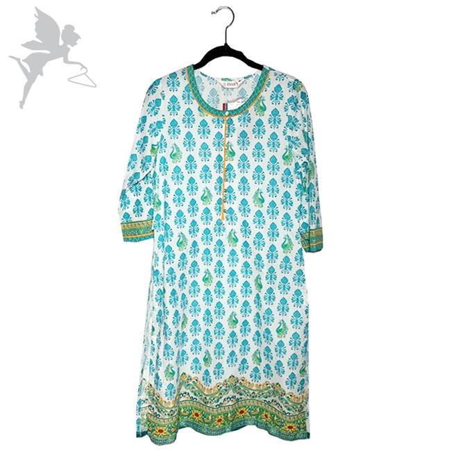 Item - Green and White Paisley Tunic Size 4 (S)