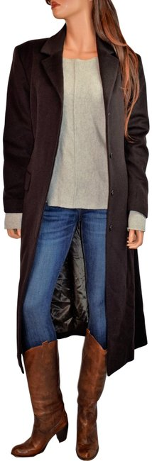 Item - Brown Long Masculine Wool & Cashmere Coat Size 10 (M)