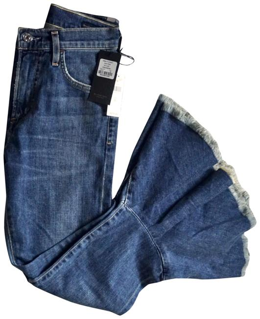 Citizens of Humanity Blue Medium Wash Anthropologie Drew Cropped Flare Leg Jeans Size 26 (2, XS) Citizens of Humanity Blue Medium Wash Anthropologie Drew Cropped Flare Leg Jeans Size 26 (2, XS) Image 1